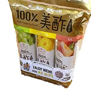 CJ 美酢 ミチョ 900ml×3本セット もも 桃&パイナップル&マスカット