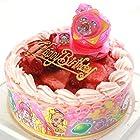 バースデー/スター☆トゥインクルプリキュア・キャラデコお祝いケーキ・ストロベリー色の生クリーム苺デコレーションケーキ5号(バースデーオーナメント・キャンドル6本付き)