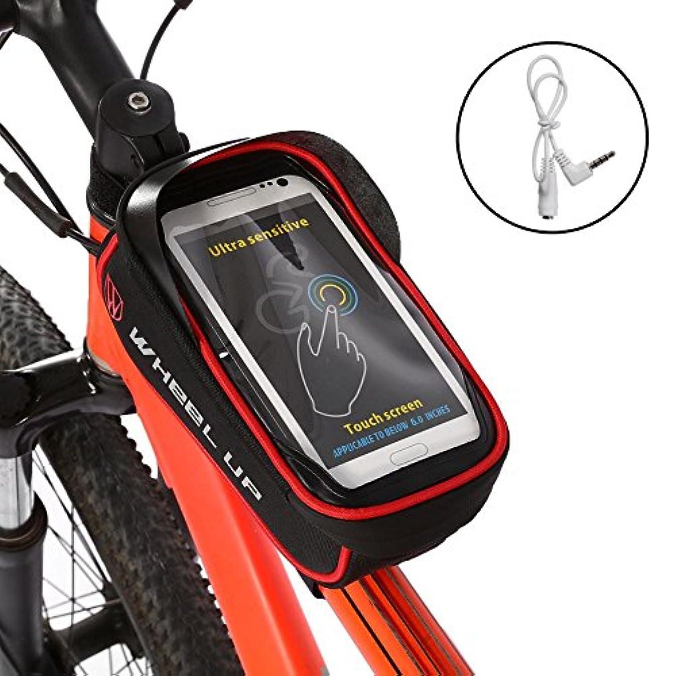 地下室中毒早熟VGEBY バイク用フロントフレームバッグ トップチューブフレーム パニエ 携帯電話マウントホルダー 防水 サイクリング フロントポーチ