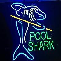 ネオンサイン、『POOL SHARK』型のデザイン、特有の個性を守ります、アメリカ―風格、DIY、省エネ、バー、ホテル、オーム、カフェ、喫茶店、広告用看板、クラブ及び娯楽場所等、サイズ:40*40*5センチ