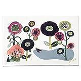 今治タオル ランチョンマット ミウ ティータオル 花とドードー (あの時の庭) ピンク 45×70cm