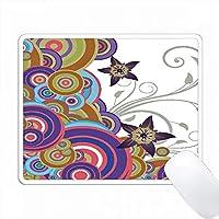 星の花とカラフルなオーバーラップサークル PC Mouse Pad パソコン マウスパッド