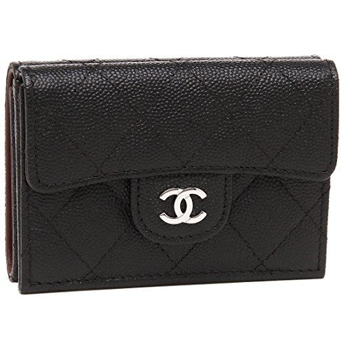 [シャネル] 折財布 レディース CHANEL A84401 Y33129 C3906 ブラック シルバー [並行輸入品]