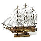 木製帆船模型 コンスティチューション 24cm 完成品 No.208-125
