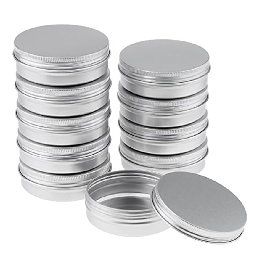 代名詞画面鉱石10個の空のアルミニウム缶缶(スクリュー蓋付き)箱入れジャートップラウンド30g - 8.2x2.7 cm