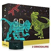 Metplus 3Dナイトライト 子供部屋の装飾 ベッドサイドランプ 7色 LEDイリュージョンテーブルデスクランプ USBタッチセンサー ナイトライト 子供 クリスマス 誕生日ギフト アクリルパネル2枚