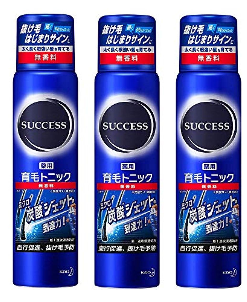 【花王】サクセス 薬用育毛トニック 無香料 小 73g ×3個セット
