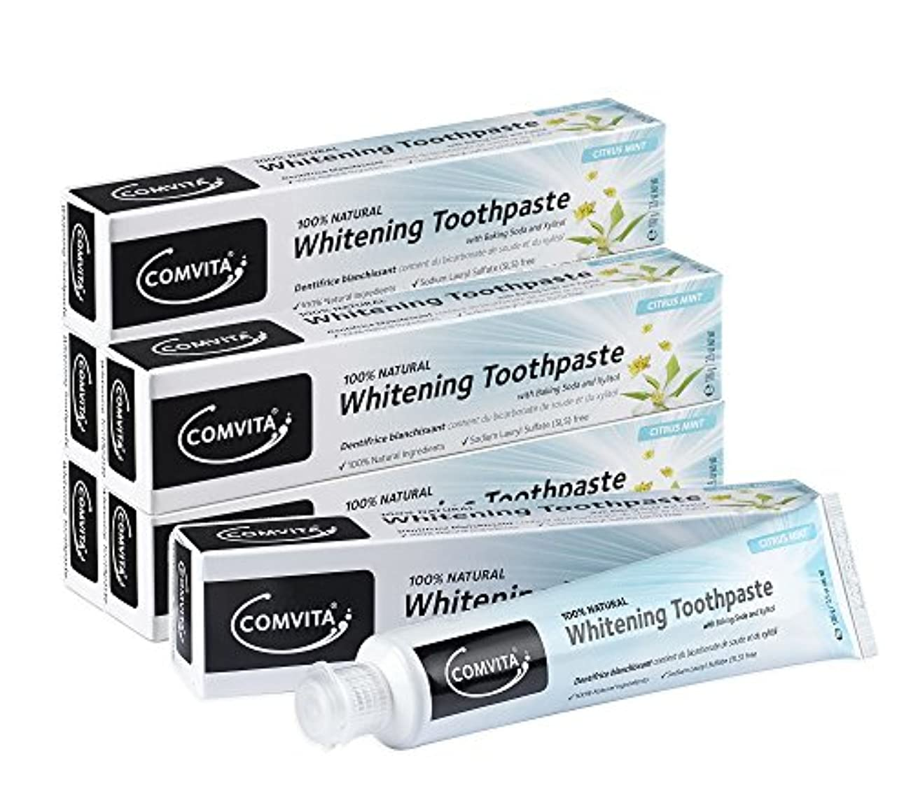 キャロライン配当打撃ホワイトニング歯磨き コンビタ 100g お得な6本セット whitening toothpaste