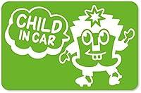 imoninn CHILD in car ステッカー 【マグネットタイプ】 No.65 ハーイさん (黄緑色)