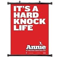 Annie 2014ムービーファブリック壁スクロールポスター( 16x 24)インチ