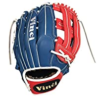 Vinci Limited 33cm Softball/Baseball Glove Red, White, & Blue Right Handed Thrower