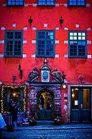 Schreibheft: Praktisches Notizbuch mit coolem Stockholm-Motiv, ca. DIN A5, liniert