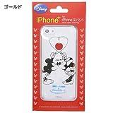 ミッキー&ミニー[iPhone SE 5Sケース]アイフォンSE 5Sクリアカバー/KISS ゴールド ディズニー