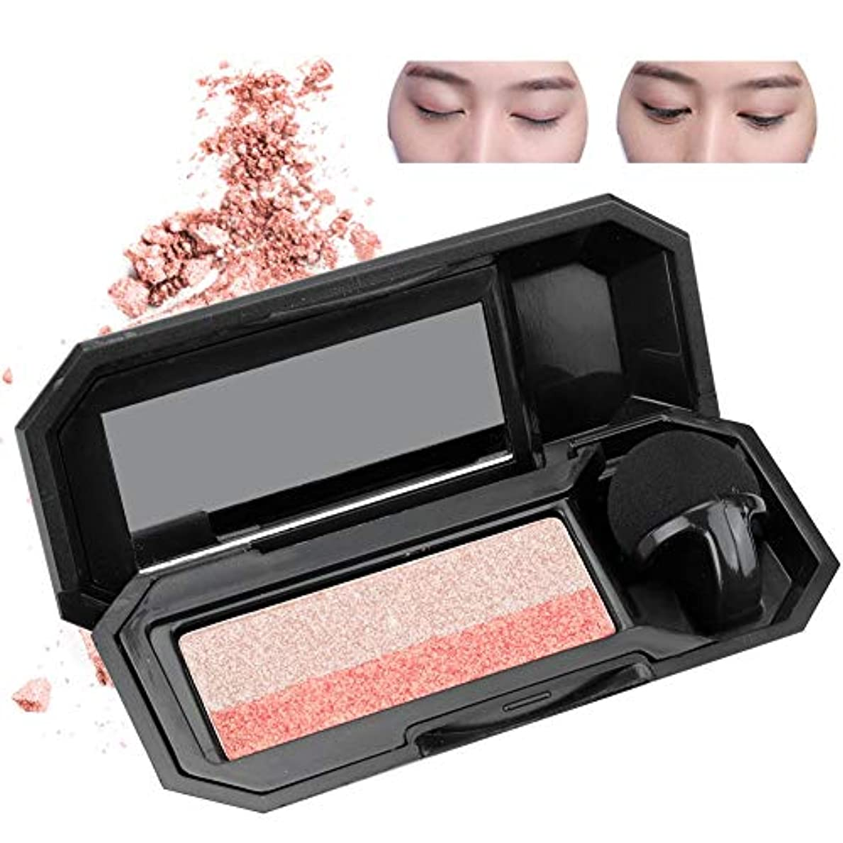 粒子マイナー知り合いダブルカラーレイジーアイシャドウパレットアイシャドウ 化粧品ツール メイクアップ(2)