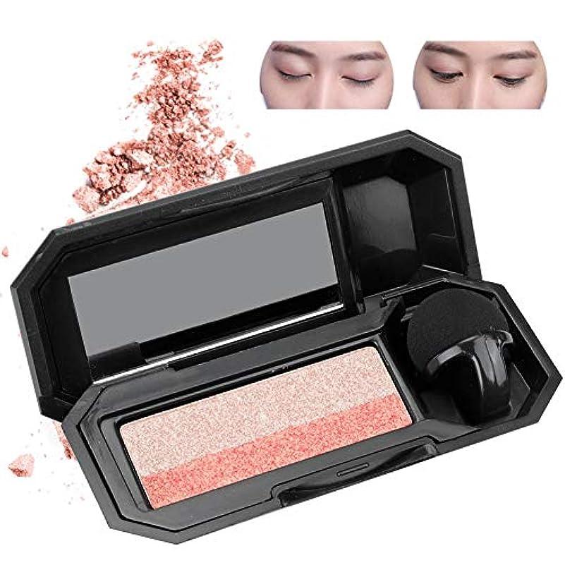 安価な心理的にフィットダブルカラーレイジーアイシャドウパレットアイシャドウ 化粧品ツール メイクアップ(2)