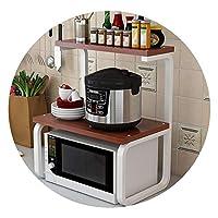 キッチン電子レンジラック、2層スパイスラック、カトラリー収納ラック