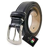 ドルチェ マルガリータ プレミアム イタリア本革ベルト 革幅3.5cm 黒 dmp-55-a-bk