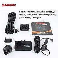Marubox M660R車DVRのレーダー探知GPS 3で1 HD2560 * 1440P 170度の角度ロシア語ビデオレコーダー 白 China