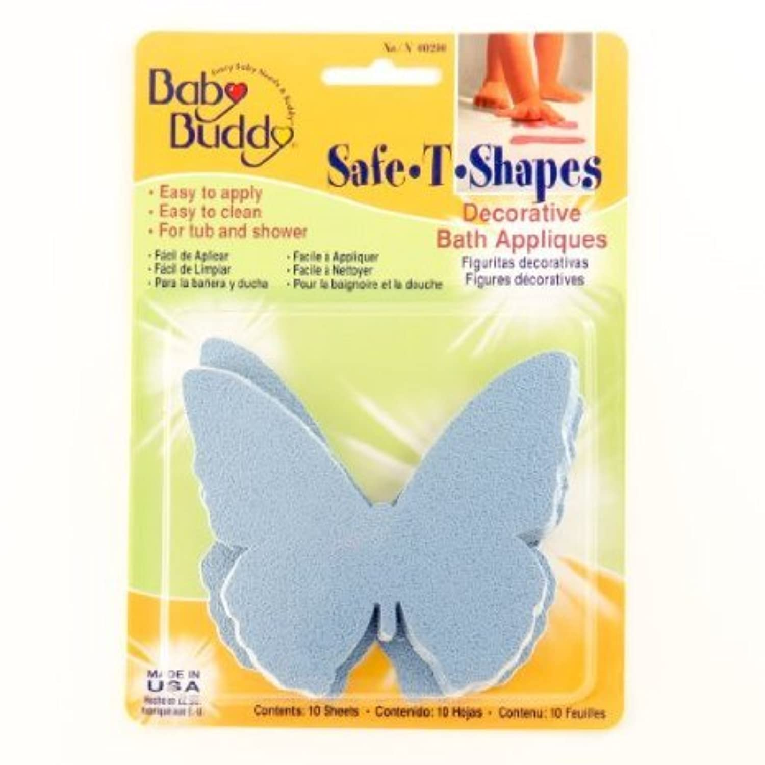 Baby Buddy BB Safe-T-Shapes Bath Appliques - Butterflies Case Pack 18 おもちゃ (並行輸入)