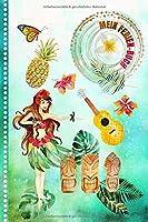 Ferienbuch: Fuer Maedchen: Hawaii Reise Aktivitaetsbuch zum Eintragen Malen Einkleben - Reisetagebuch zum Selberschreiben - Ferien-Tagebuch - Ferien Urlaub Unterwegs Journal, Urlaubstagebuch Tropen Tour