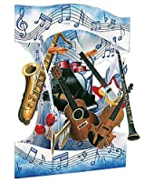 Santoro Interactive 3-D Swing Card Musical Instrument Greeting Card [並行輸入品]