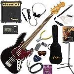 Squier エレキベース 初心者 入門 王道のジャズベース 10wアンプが入ったスタンダード15点セット Classic Vibe '60s Jazz Bass/BLK(ブラック)