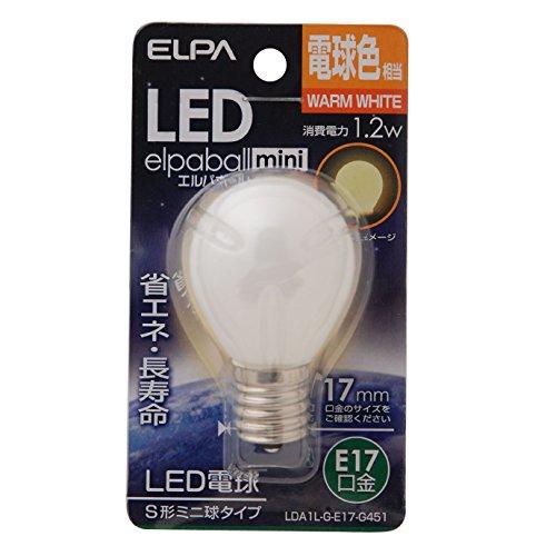 ELPA エルパ LED電球S形E17 電球色 屋内用 省エネタイプ LDA1L-G-E17-G451