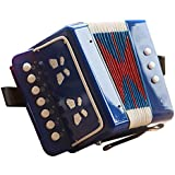 Kid's Toy Instrument/Kid's Accordion for Both Boys and Girls,Blue
