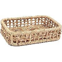 籐のストレージバスケット織物装飾的なストレージボックス