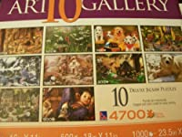 Sure-Lox Art Gallery 10 Deluxe Jigsaw Puzzles 4700 Pieces (Outdoor Living)