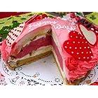 バースデーデコタルト・ラブリーハート 【6号 18cm バースデーケーキ 誕生日ケーキ デコ】::149