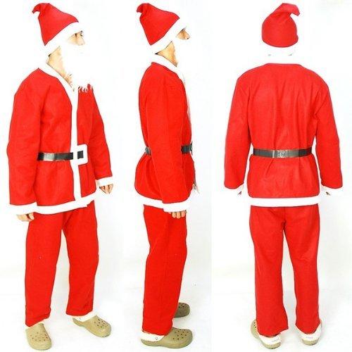 メンズ サンタクロース DX 5点セット《クリスマスサンタコスチューム☆コスプレ衣装》ニコニコマーケットオリジナル
