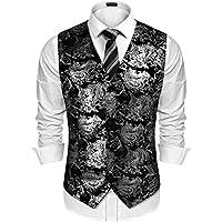 JINIDU Mens Classic Paisley Floral Waistcoat Fashion Suit Vest/Tuxedo Vests