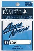 FAMELL(ファメル)エリアナイロンテーパーリーダー 7.5ft 6個セット  3X
