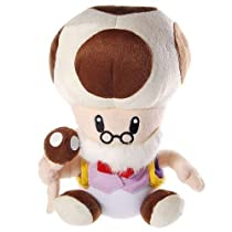 Super Mario Brothers Plush Old Toad Stuffed Toy by Banpresto [並行輸入品]