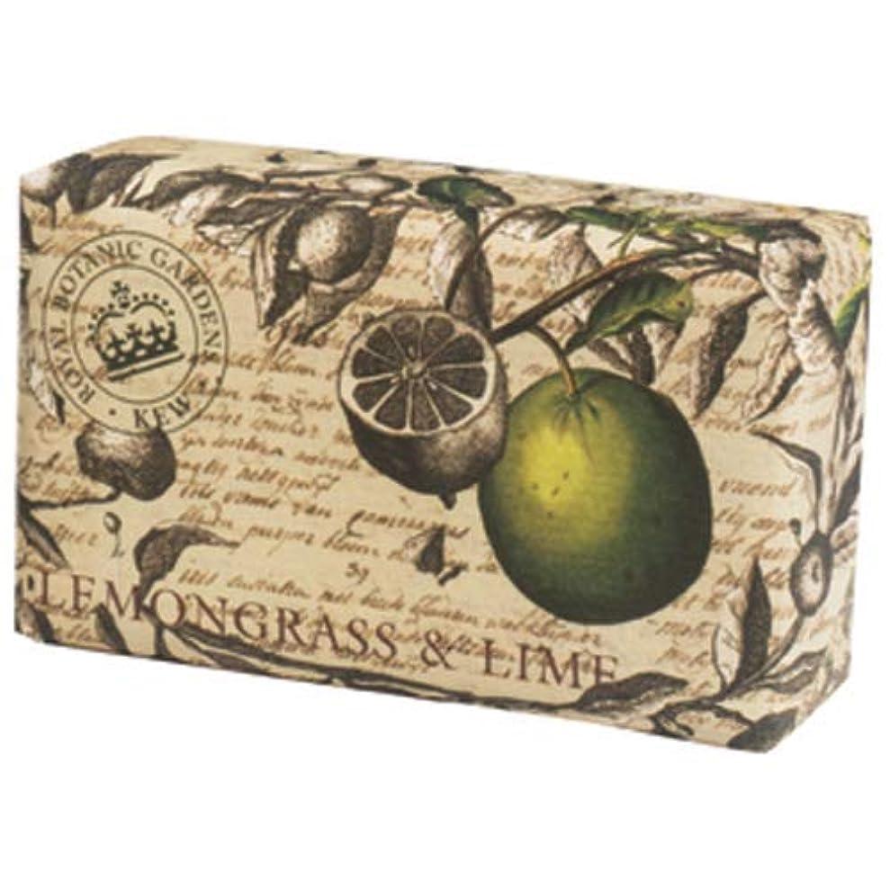 シングル省外側English Soap Company イングリッシュソープカンパニー KEW GARDEN キュー?ガーデン Luxury Scrub Soaps スクラブソープ Lemongrass & Lime レモングラス&ライム