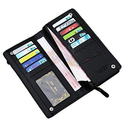 ファスナー付き メンズ 長財布 PUレザー 大容量 高級感溢れる財布 ギフトやプレゼント