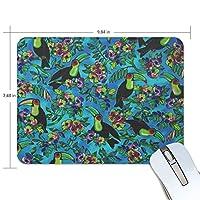 マウスパッド オオハシ 花柄 ゲーミングマウスパッド 滑り止め 19 X 25 厚い 耐久性に優れ おしゃれ