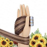 FidgetGear Remyの人間の毛髪延長7A 40cmの継ぎ目が無いPUの皮のよこ糸の方法16インチテープ #混合4/27