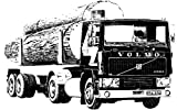 エレール 1/24 ボルボ F12-20 & ティンバーセミトレーラー プラモデル FF1704