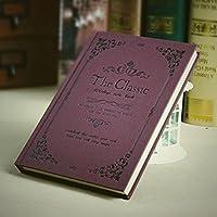 クリエイティブなシンプルな日記A5の目を肥厚させる学生ノートブックの文房具ハードコピービジネスメモ , lace wine red medium medium