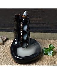 Rosenice 香炉お香バーナー セラミック釉線香煙逆流タワー ホルダー