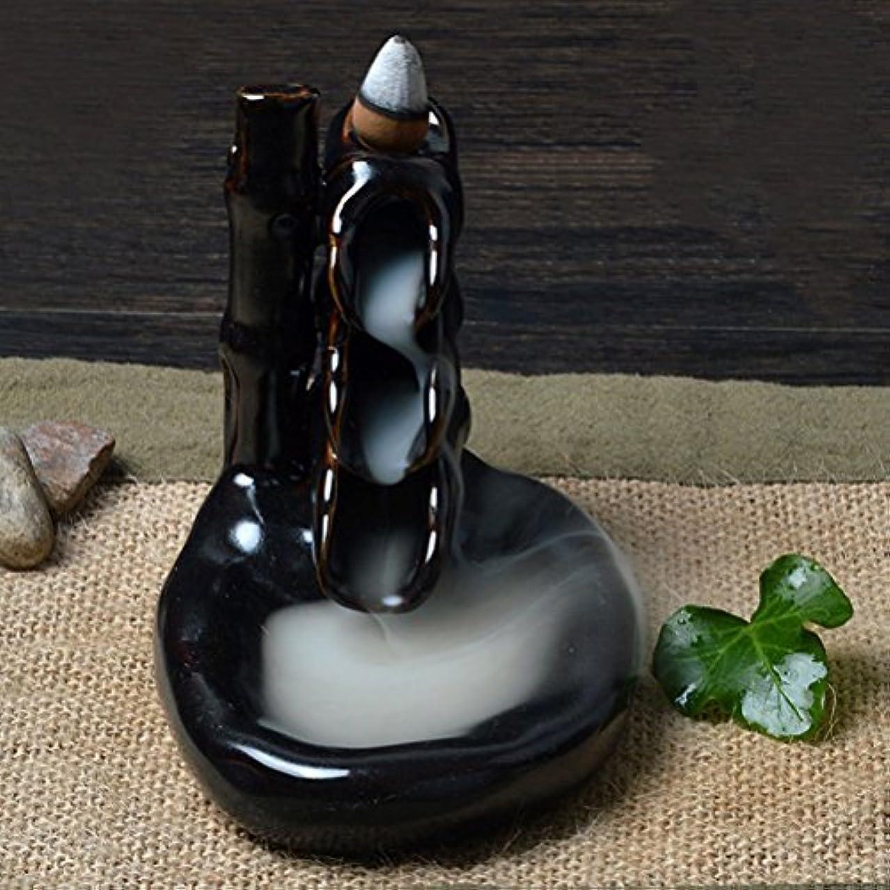 飲み込む飲み込む適応Rosenice 香炉お香バーナー セラミック釉線香煙逆流タワー ホルダー