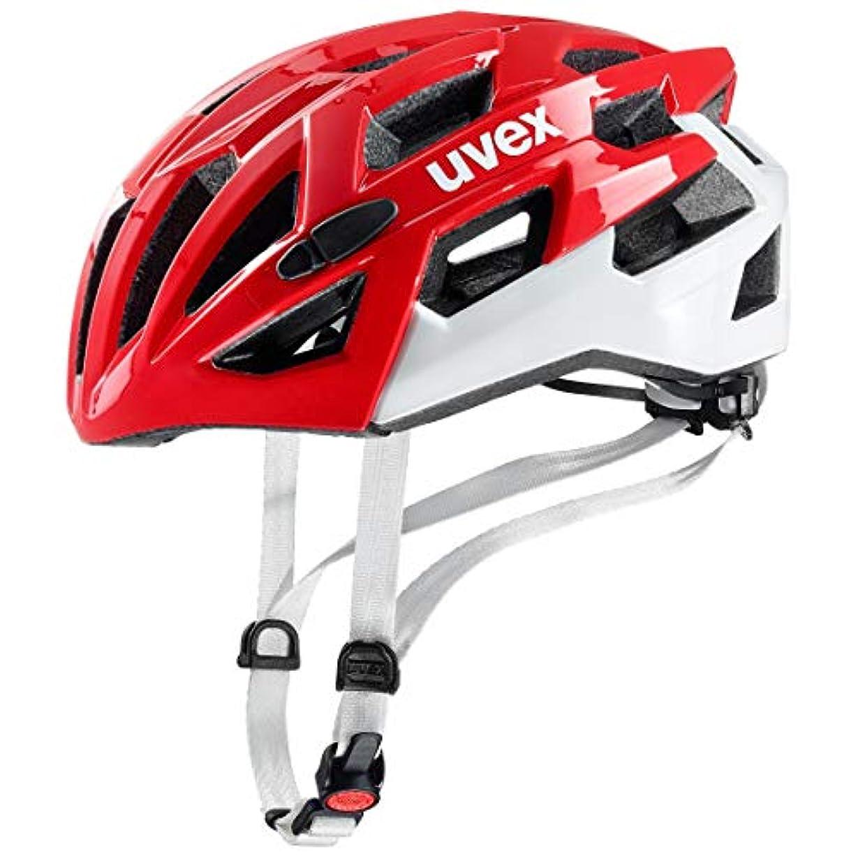 キモいクラックパキスタンウベックス(uvex) ヘルメット race 7 JCF公認 レッド/ホワイト 55-61