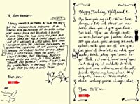 Quiplip Handwritten Yours Truly Birthday Cards 6-Pack (YT04166PCK) [並行輸入品]