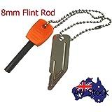 8mm Flint Rod Camping Survival Fire Starter Lighter (Full Magnesium Rod) GBT-04
