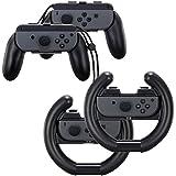 Eishin ジョイコン ハンドル Joy-Con用 Nintendo Switch マリオカート8 デラックス対応 4個セット