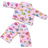 Lovoski ファッション 人形服 パジャマ スーツ トップス パンツ 寝間着 18インチアメリカガールドール人形用