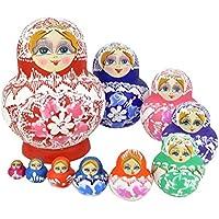 ソニーmdr7506 ( TM ) 10個異なるサイズキューティーNesting Dolls Matryoshka Madnessロシア人形 10 pcs
