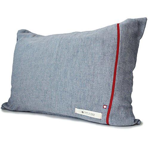 ブルーム 今治タオル 認定 ビレア ピローケース 5重ガーゼ 枕カバー 綿100% やわらか ガーゼ生地 日本製 (ネイビー)